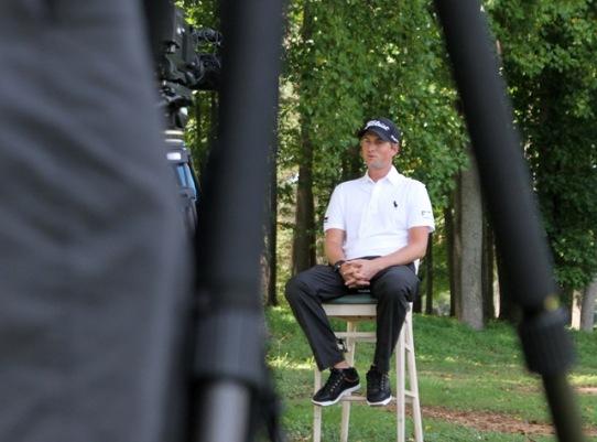 Webb being interviewed