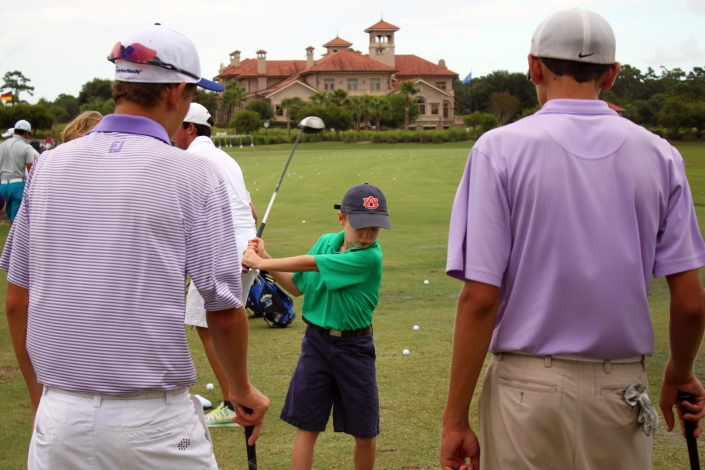 Murphy, Patrick Wetterich, Daniel at Hug and Heal Event with Auburn Kid on Range (5)
