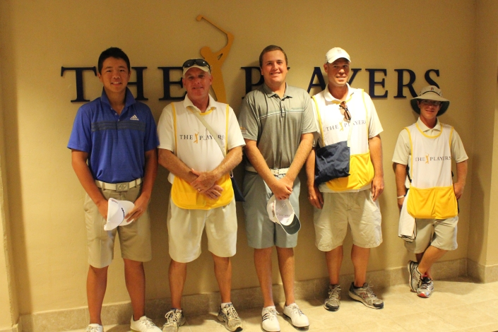 Andy Zhang and Tyler Moore and Caddies  (3)