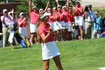 Lee wins her anchor singles match at the 2013 PING Junior Solheim Cup